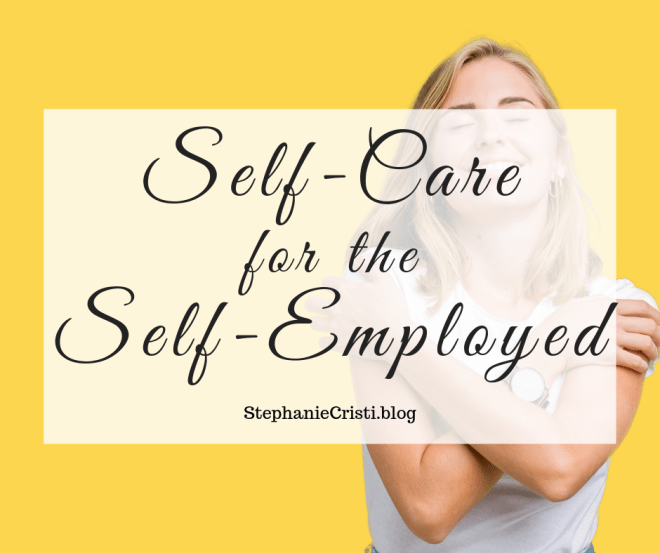 When you're self-employed, especially if you're working from home, it can be very easy to put your health aside and focus on all the other aspects of your life first. Whatever it may be that's keeping you busy, you should make a serious effort to take care of yourself. I'm incredibly passionate about the idea of self-care for the self-employed entrepreneur - I literally wrote a book on it!