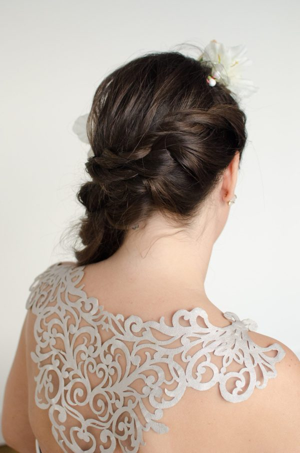 handmade bride wedding dress lauren mccormick ottawa bridal boutique floral crown 3394