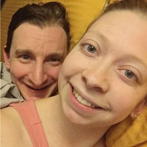 365 days of happy project - day 81 - stephanie de montigny - couple goals big spoon little spoon snuggle cuddle