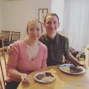 365 days of happy project - day 89 - stephanie de montigny - couple goals diner together food keto