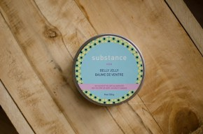 pregnancy belly jelly product photo subtance lavender oil bees wax