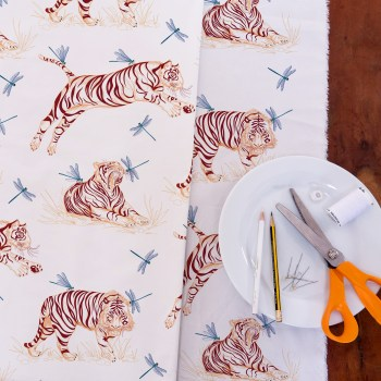 tissu tigres collection Les Grosses Betes