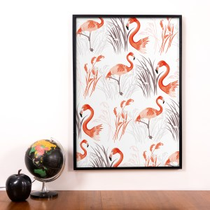 StephanieDesbenoit-poster-birds-flamingo