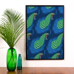 StephanieDesbenoit-poster-birds-peacock-blue