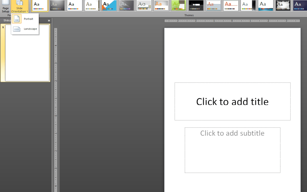Report Layout in PowerPoint?