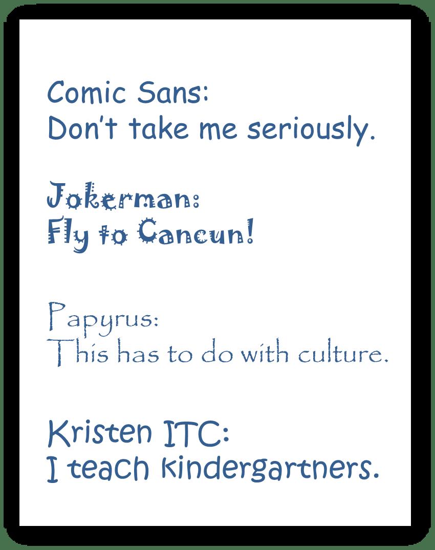 Worst Font Contest