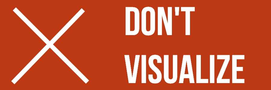 Don't Visualize