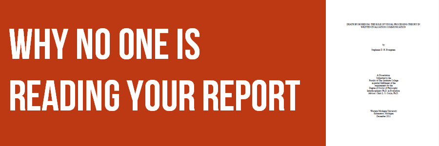 Why No One is Reading Your Report