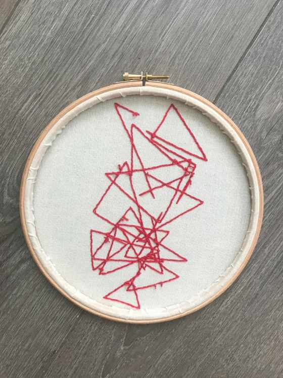 'The Shrinking Universe' inspired embroidery