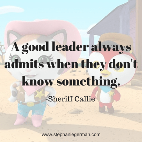 A good leader always admits when they (1)