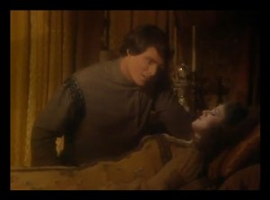 "Christopher Reeve and Bernadette Peters in the ""Sleeping Beauty"" episode as the Prince and Princess."