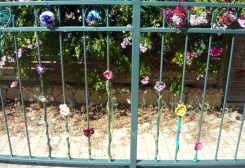 open house - flower fence