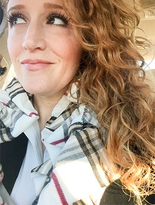Scrunched plaid scarf, soft as snow (and shh, under $10)