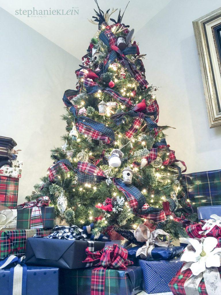 Tartan Plaid Christmas Tree