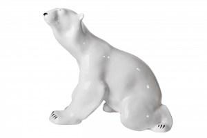 Poecelain figurine Bear sitting