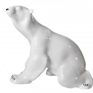 Poecelain figurine Bear sitting
