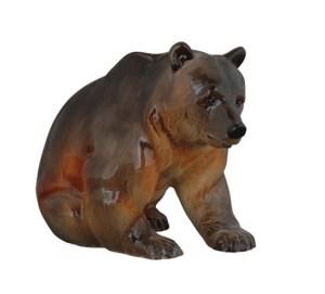 Porcelain figurine Bear brown