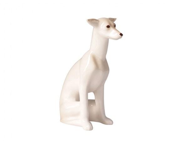 Dog figurine Leverette sitting