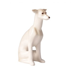 Dog figurine Leverette sitting