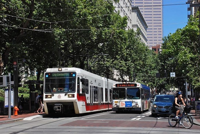 MAX greener transportation in Portland
