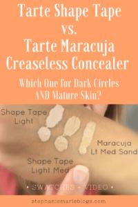 tarte shape tape vs tarte maracuja concealer