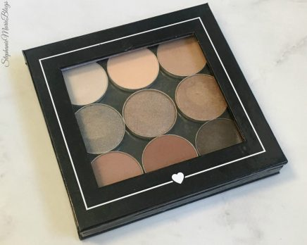 makeup palette on countertop