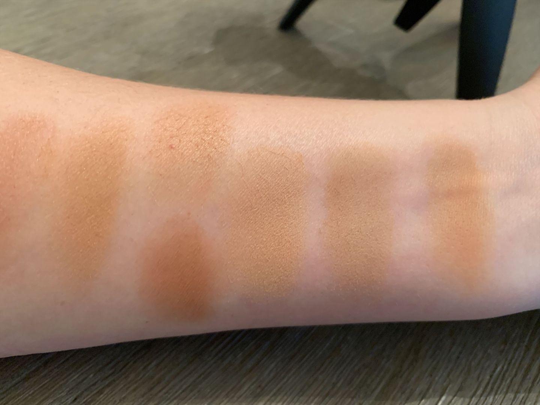 bronzer swatches light to medium skin