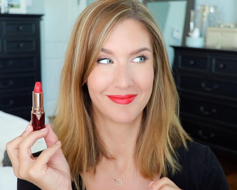 Charlotte Tilbury Hot Lips 2 Patsy Red Lip Swatch
