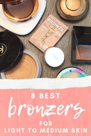 8 best bronzers for light to medium skin. bronzer comparison.