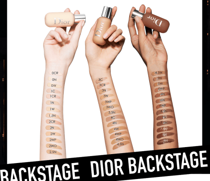Dior Backstage Foundation 2.5N 2N Swatches