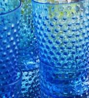 Freshly-cleaned cobalt glassware (yes, cobalt is my favorite color)