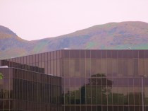 Camoflouge colors/Disguise a modern building/Layered on mountains