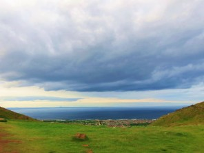 Edinburgh clouds/Layered above earth and sea/Simply majestic