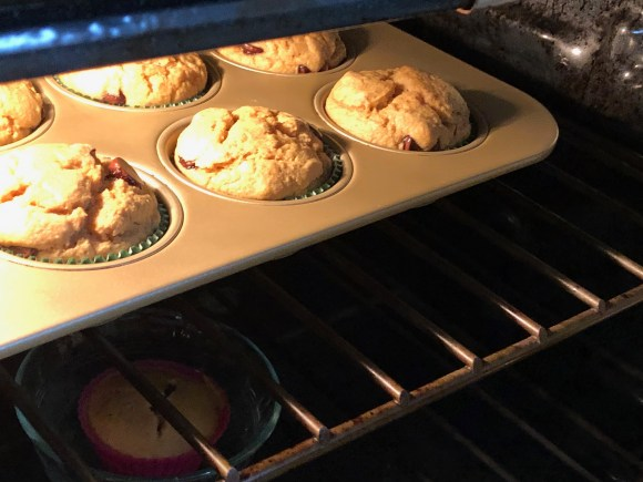 Muffins in the oven