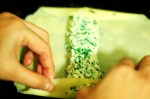 Folding a crepe