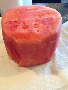 Watermelon cut shaped
