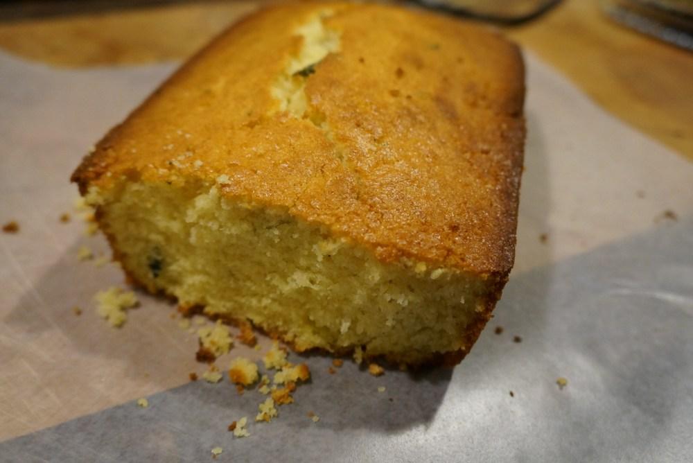 Vanilla-Sage loaf crumbled