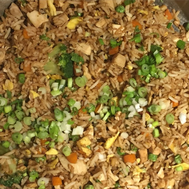 Easy Chicken Fried Rice Close-up