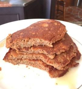 Paleo pancakes cut