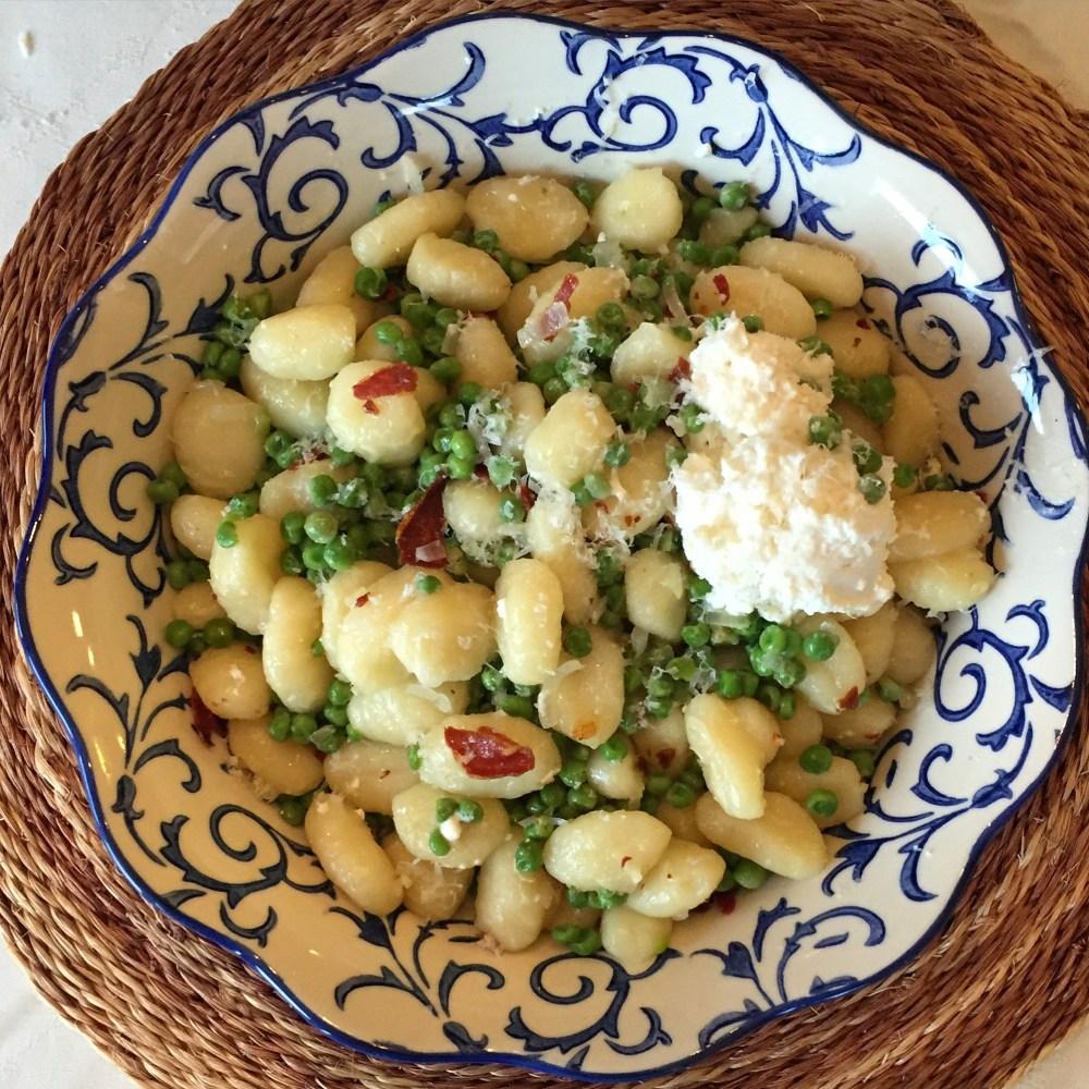 Gnocchi with Peas and Prosciutto
