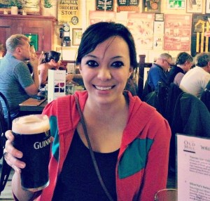Drinking a Guinness in Dublin, Ireland
