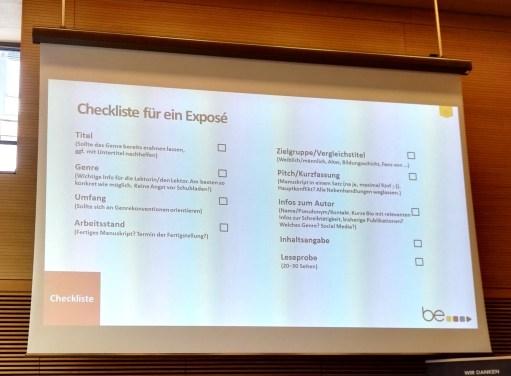 Die Checkliste für's Exposé von be.ebooks.