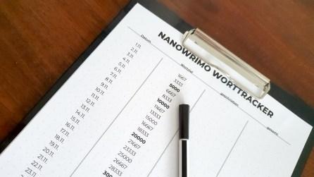 Nanowrimo Worttracker 2019