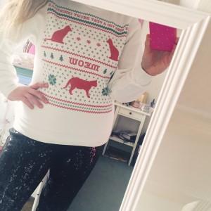 MEOWY Christmas sweater // stephanieorefice.net