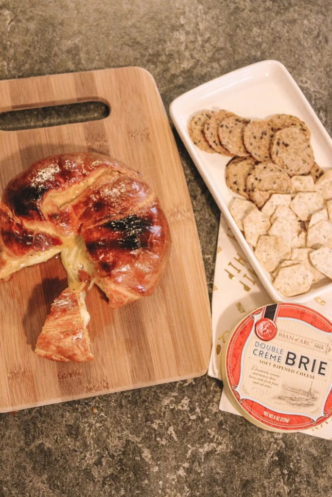 3 ingredient brie filled croissant roll