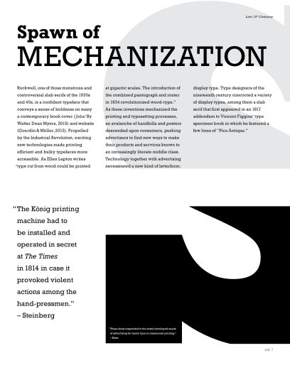 Type Specimen Booklet, spread 1