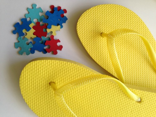 Autism Awareness Flip Flops