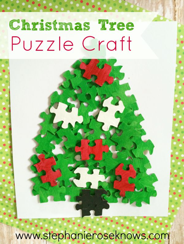 Christmas Tree Puzzle Craft