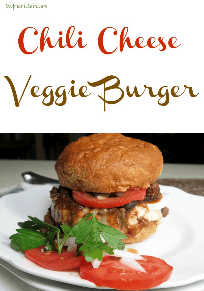 Chili Cheese Veggie Burger