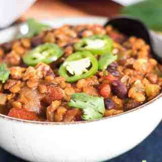 Slow Cooker Black Bean Chili
